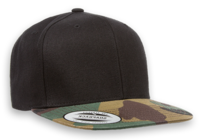 Yupoong Classic Snap Back with Camo Flat Bill