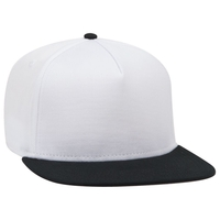 Image COTTON TWILL SQUARE FLAT VISOR OTTO 5 PANEL PRO SNAPBACK