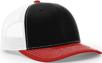 Richardson Trucker Tri Colored Twill Mesh Snapback