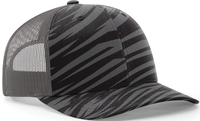 Richardson Trucker Streak Camo Pattern Twill Trucker Mesh