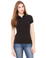 Bella + Canvas Ladies' Cotton Spandex Mini Piqué Short-Sleeve Polo