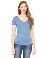 Bella + Canvas Ladies' Burnout Short-Sleeve V-Neck T-Shirt