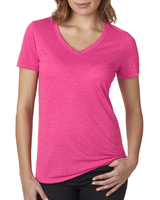 Next Level Ladies' Poly/Cotton V-Neck Tee