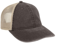 6 Panel Relaxed Low Pro Washed Pigment Dyed Cotton Twill Soft Mesh Back