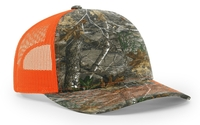 Image Richardson Trucker Camo Pattern Twill Trucker Mesh