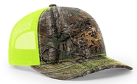 Richardson Trucker Camo Pattern Twill Trucker Mesh