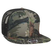 Otto-Camouflage Superior Polyester Twill Sq Flat Visor  6 Panel