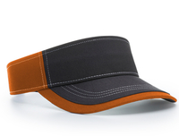 Richardson Charcoal Front With Contrast Stitching Sun Visor
