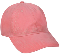 Outdoor Ladies Fit Enzyme Washed 6 Panel Cap with Decorative Embroidery