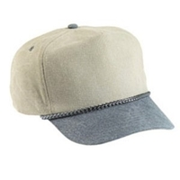 Budget Caps | Cobra-5-Panel Two Tone Stone Washed Canvas