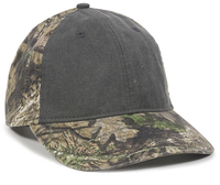 Image Outdoor 6 Panel Heavy Washed Low Crown Canvas Camo