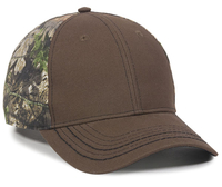 Image Outdoor 6 Panel Mid Profile Contrasting Stitch Canvas Camo