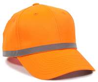 Outdoor 6 Panel ANSI Reflective Crown Taping Anti Glare Cap