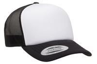 Flexfit Curved Visor White Front Foam Trucker