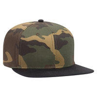 Image Otto Snap 6 Panel Pro Style Camouflage Cotton Blend Twill Snap Back