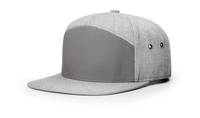 7 Panel Twill Leather Strap back