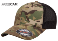 Yupoong Flexfit MultiCam Cotton Camo Trucker Mesh