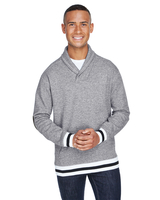 J America Adult Peppered Fleece Shawl Collar