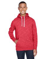 J America Adult Melange Fleece Pullover Hood
