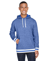 J America Adult Peppered Fleece Lapover Hood