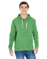 J America Adult Triblend Pullover Fleece Hood
