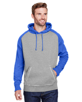 J America Adult Vintage Heather Pullover Hood