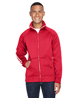 J America Adult Vintage Poly Fleece Track Jacket