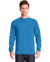 Next Level Adult Inspired Dye Long-Sleeve Crew with Pocket