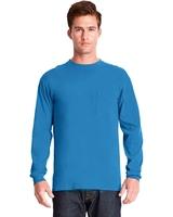 Image Next Level Adult Inspired Dye Long-Sleeve Crew with Pocket