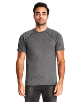 Next Level Mens Mock Twist Short-Sleeve Raglan T-Shirt