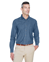 Harriton Mens 6.5 oz. Long-Sleeve Denim Shirt