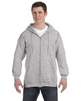 Hanes Adult 9.7 Ounce Ultimate Cotton® 90/10 Full-Zip Hood