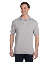 Hanes Adult 5.2 oz., 50/50 Eco-Smart® Jersey Pocket Polo