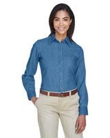 Harriton Ladies 6.5 oz. Long-Sleeve Denim Shirt