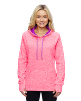 Image J America Ladies Cosmic Contrast Fleece Hood
