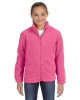 Harriton Youth 8oz., Full Zip Fleece