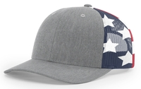 Richardson 6 Panel Trucker Printed Stars & Stripes Mesh Back
