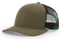 Richardson 6 Panel Trucker Printed Camo Mesh Back