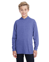 Anvil Youth Long-Sleeve Hooded T/Shirt
