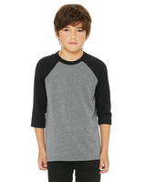 Bella + Canvas Youth 3/4-Sleeve Baseball T-Shirt