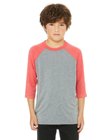 Bella + Canvas Youth 3/4-Sleeve Baseball T/Shirt