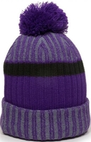 Image Outdoor Heathered Rib Knit Watch Hat Pom Pom