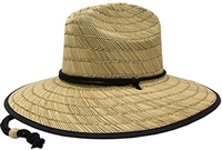 Mega Lifeguard Straw with Patterned Underbrim