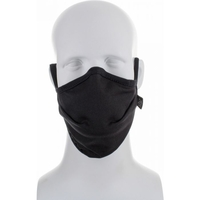 Reusable Moisture Wicking Anti Viral-Anti Bacterial Black Face Mask