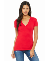 Bella + Canvas Ladies' Jersey Short-Sleeve Deep V-Neck T-Shirt
