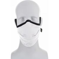 Reusable Moisture Wicking Anti Viral-Anti Bacterial White/Black Face Mask