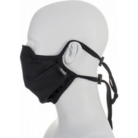 Reusable Moisture Wicking Anti Viral-Anti Bacterial Black Face Mask
