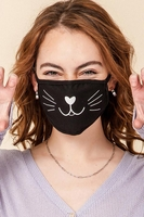 2-Layer Cat Face Washable Reusable (Pack of 10) $20.00=$2.00 each