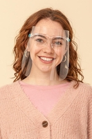 Protective Isolation Mask w/Glasses Washable Reusable (Pack of 10) $48.00=$4.80