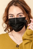 Disposable Black Masks (Pack of 50) $30.00=$0.60 each